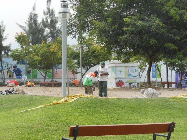 Playground under construction