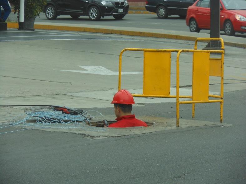 Telecommunication worker in Peru
