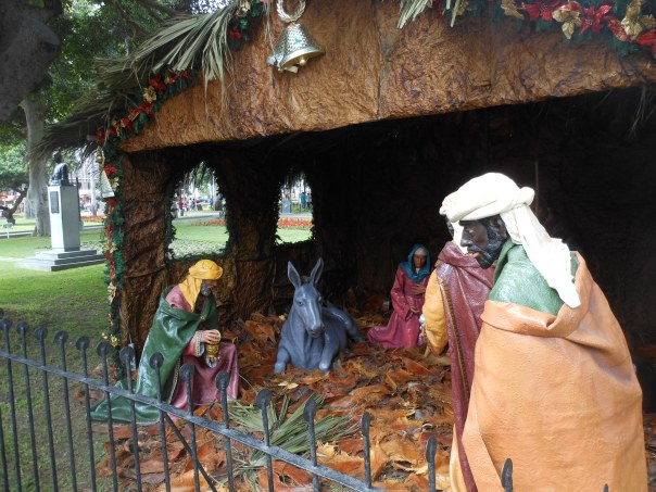 Nativity scene in Lima's Parque Kennedy