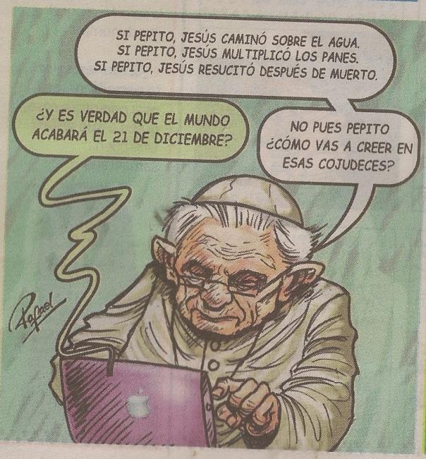 Editorial cartoon from Peruvian newspaper