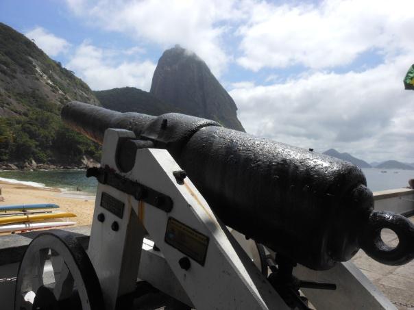 Outside a beach in Rio de Janeiro
