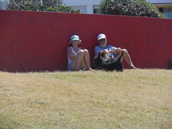 Couple and friend in Punta del Este, Uruguay