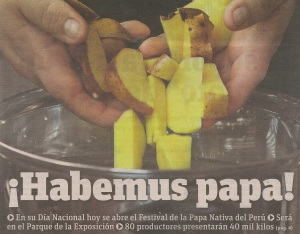 Solanum tuberosum gets the front page treatment